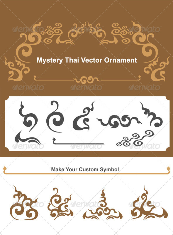 Mystery Thai Vector Ornament - Decorative Symbols Decorative