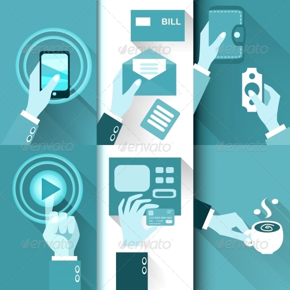 Business Hands in Action - Web Technology