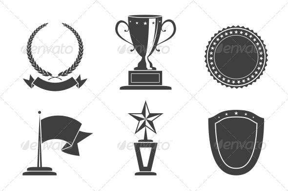 Recognition Badges - Web Elements Vectors