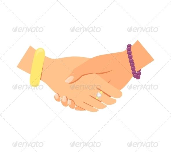 Business Women Handshake - Concepts Business