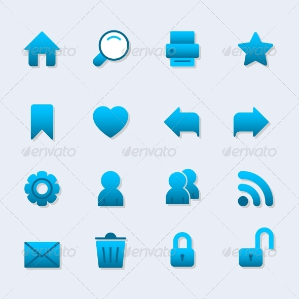 Basic Icon Set for Web Design - Web Elements Vectors