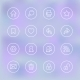 Transparent Set of Icons for Mobile App UI - GraphicRiver Item for Sale