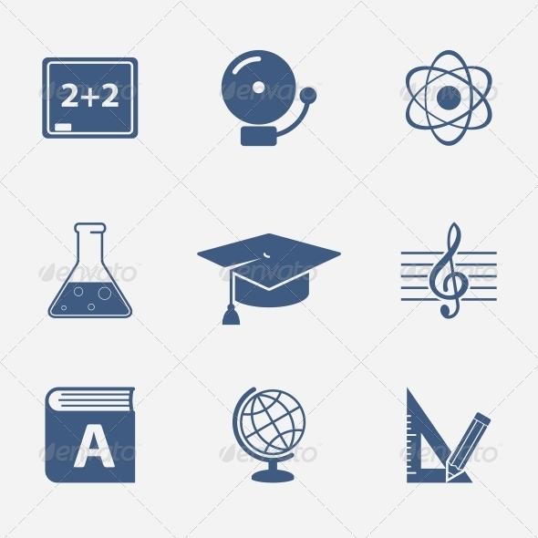 Interface Elements for Education Website - Web Elements Vectors