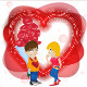 Valentine Couple with Roses and Heart - GraphicRiver Item for Sale