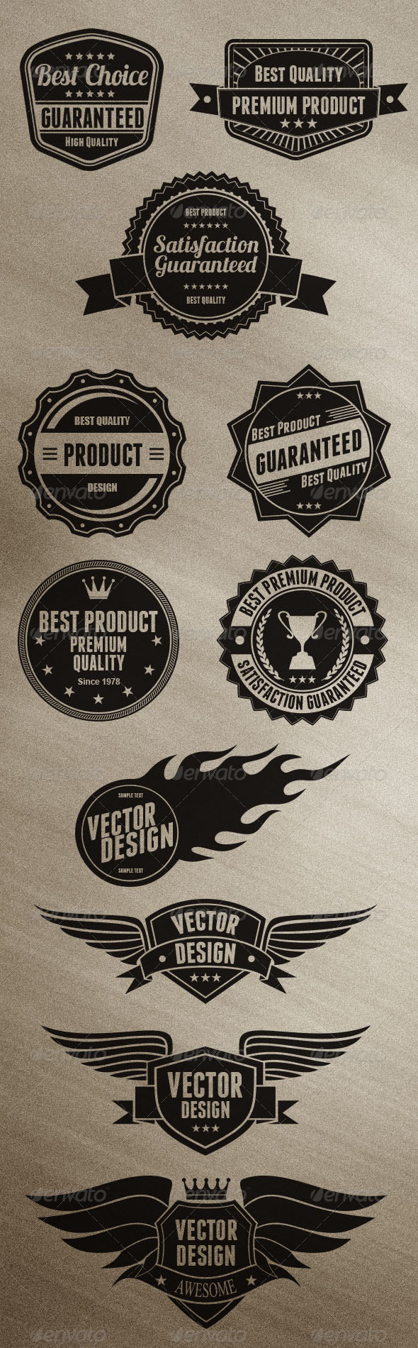 Badges Design - Business Conceptual