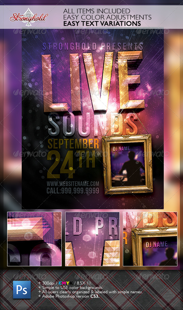 Live Sounds Party Flyer Template - Clubs & Parties Events