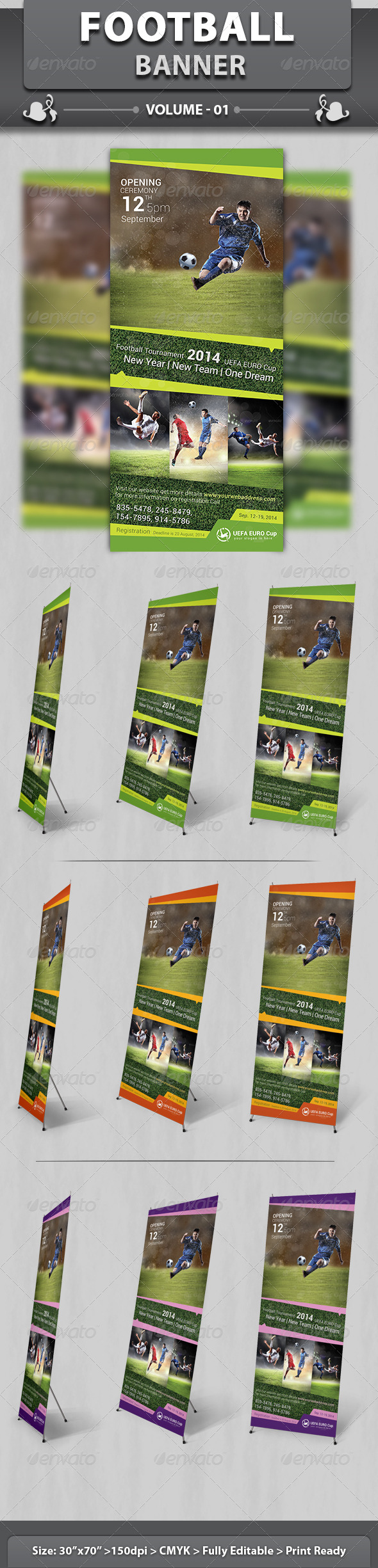 Sports Business Banner | Volume 1 - Signage Print Templates