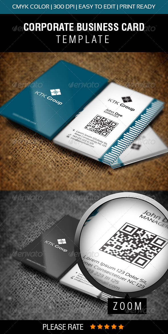 KTK Group Business Card - Corporate Business Cards
