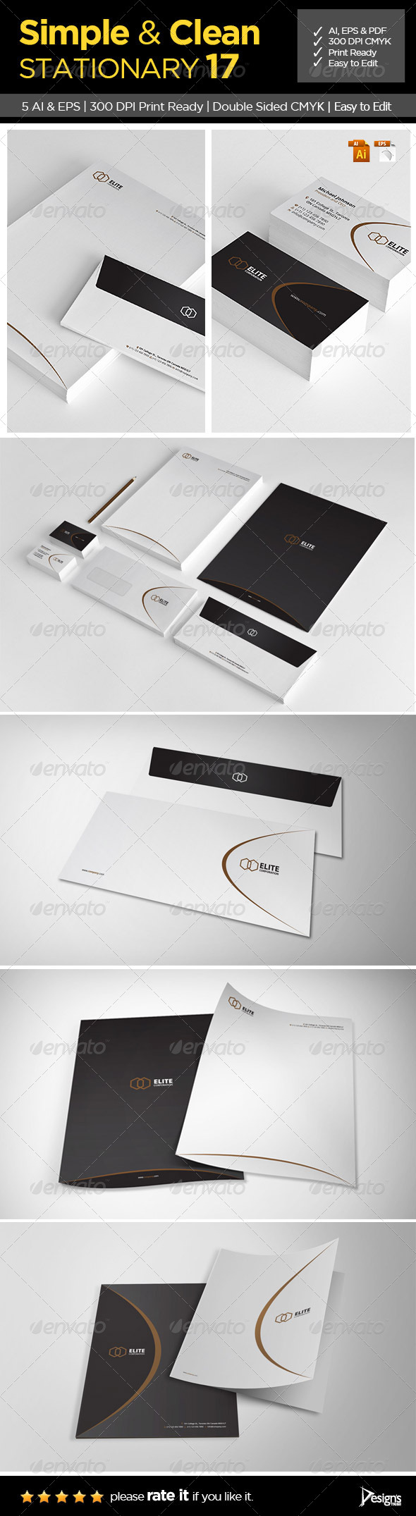 Simple and Clean Stationary 17 - Stationery Print Templates