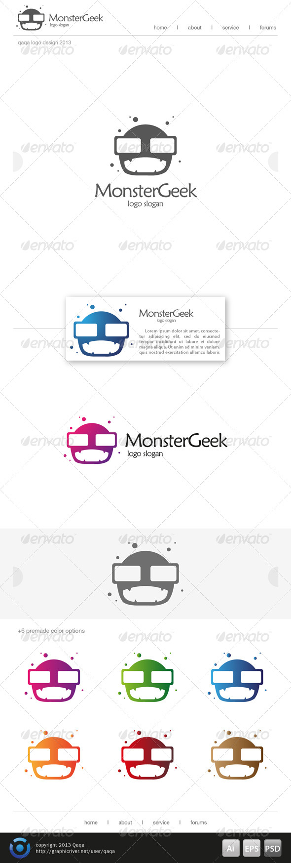 Monster Geek Logo - Logo Templates