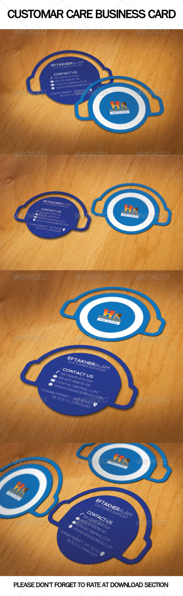 Customar Care Business Card - Real Objects Business Cards