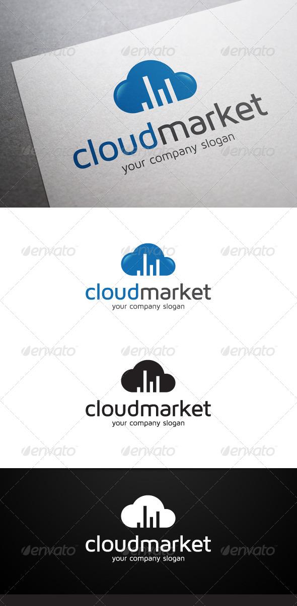 Cloud Market Logo - Symbols Logo Templates