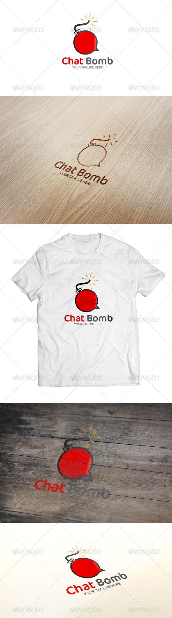 Chat Bomb - Logo Template - Symbols Logo Templates