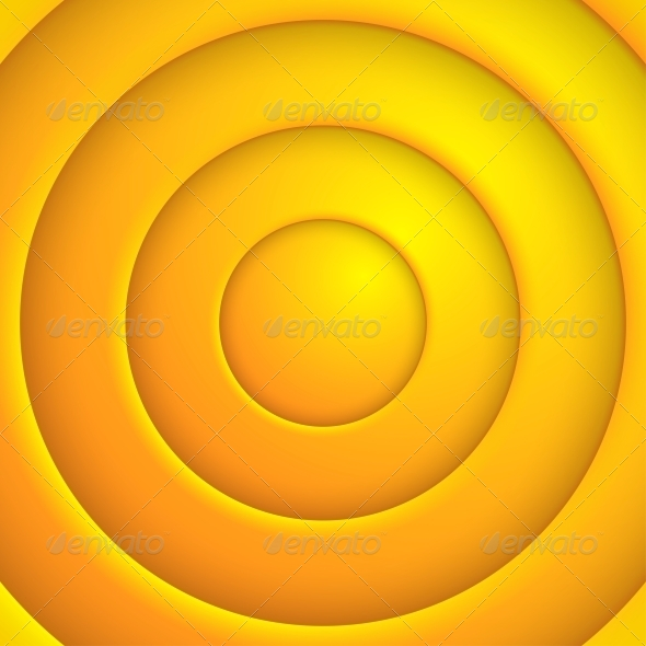 Yellow Circle Abstract Background - Miscellaneous Vectors