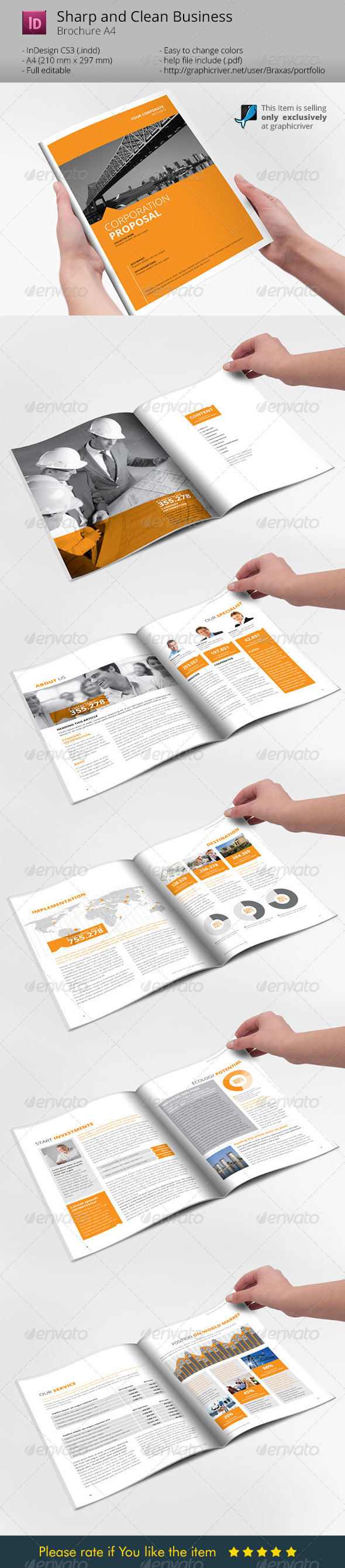 Sharp and Clean Business Brochure - Corporate Brochures