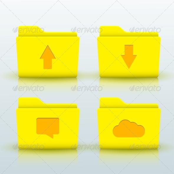 Folder Icons Set - Miscellaneous Vectors