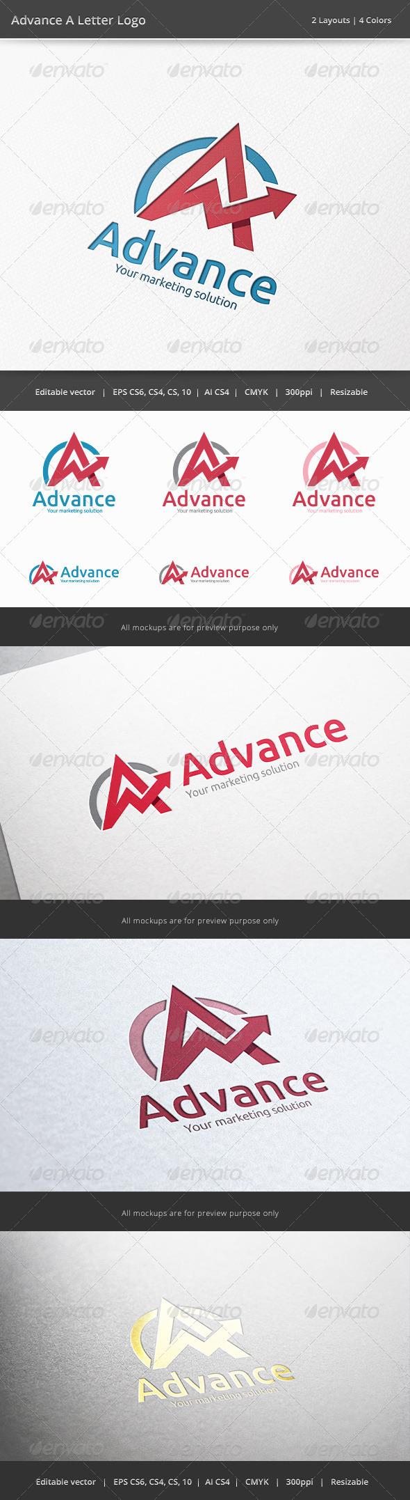 Advance A Letter Logo - Letters Logo Templates