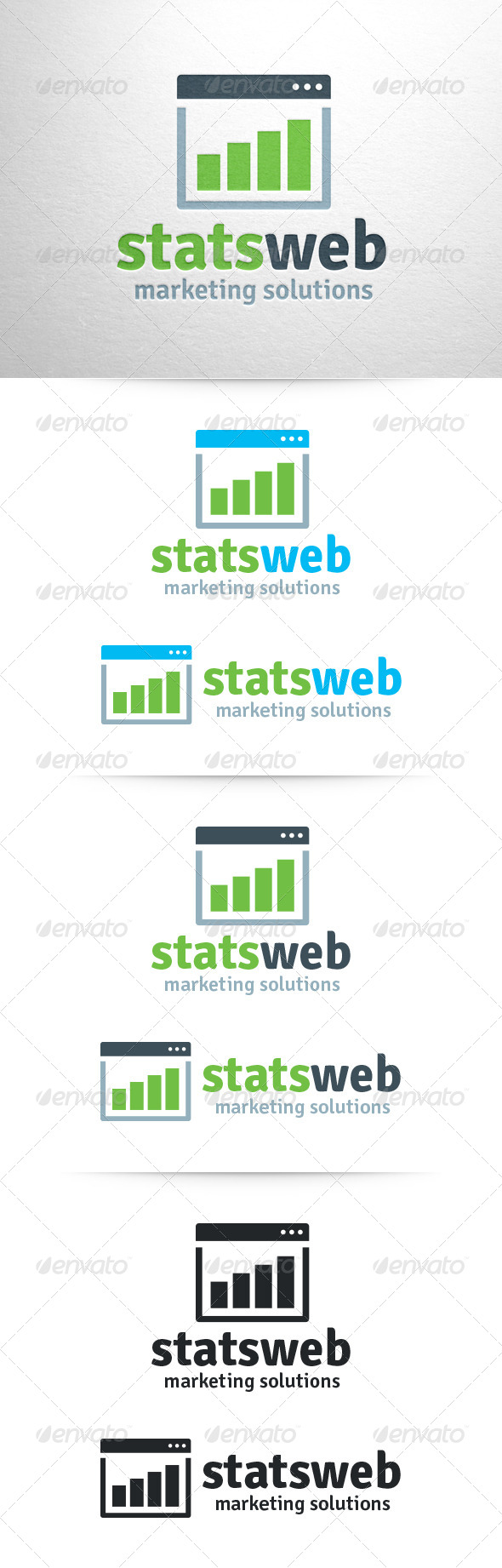 Stats Web Logo Template - Abstract Logo Templates
