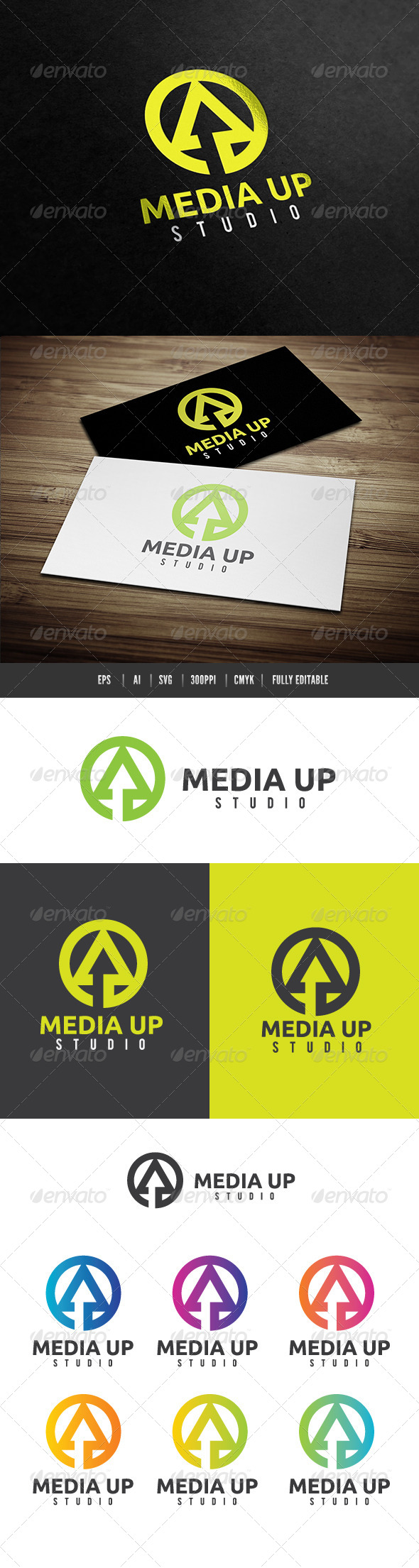 Media Up  - Letters Logo Templates