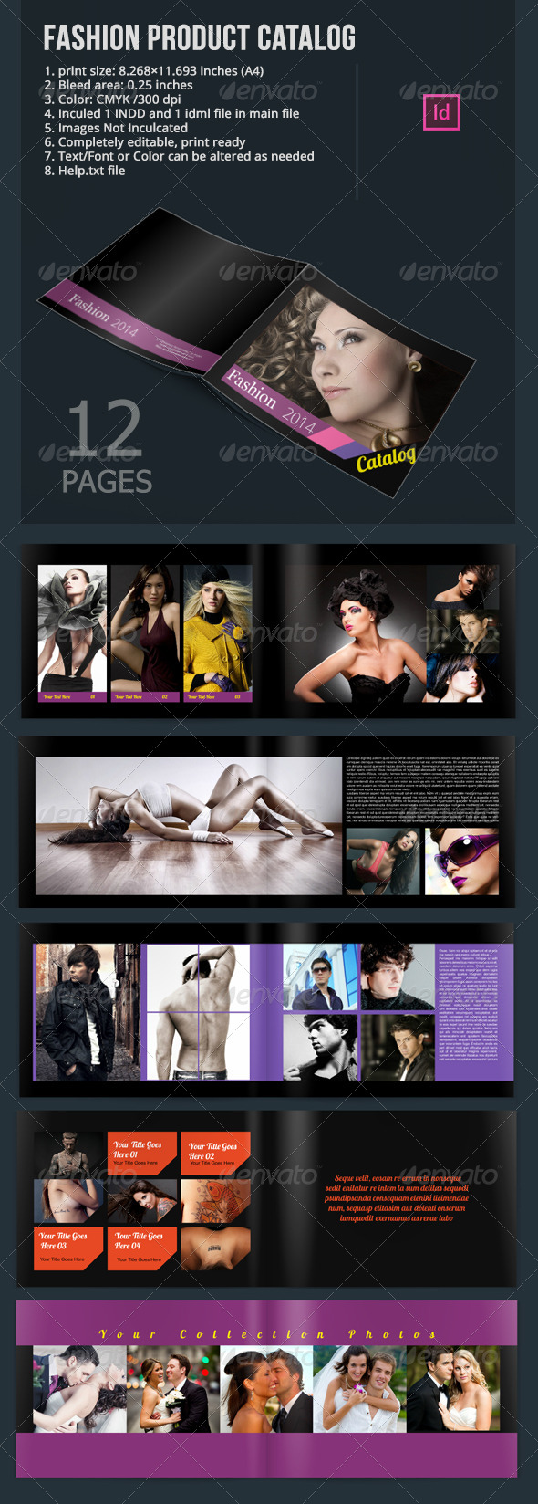 Fashion Product Catalog In-Design Templates - Catalogs Brochures