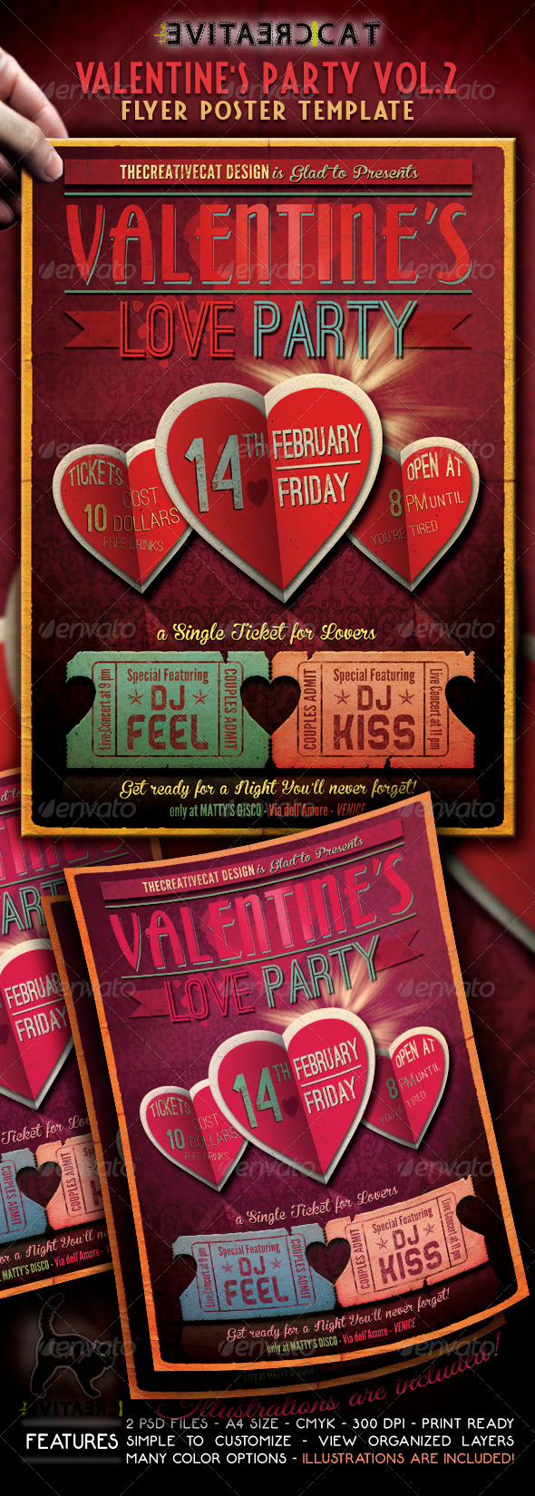 Valentine's Party Flyer/Poster Vol. 2 - Events Flyers