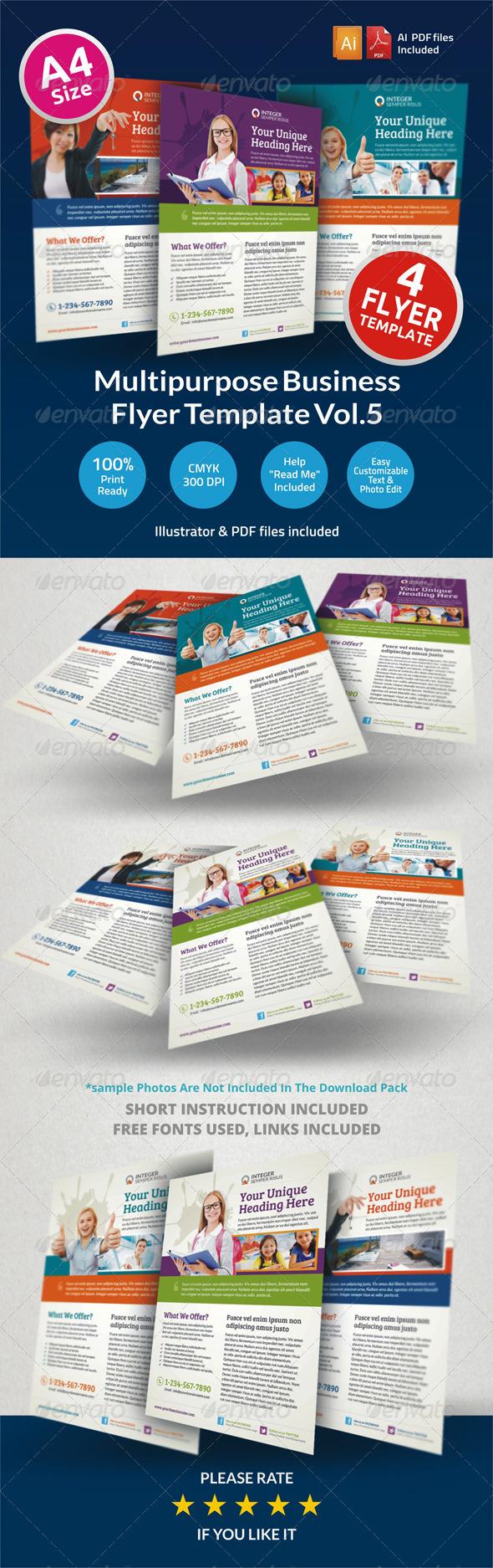 Multipurpose Business Flyer Vol.5 - Corporate Flyers