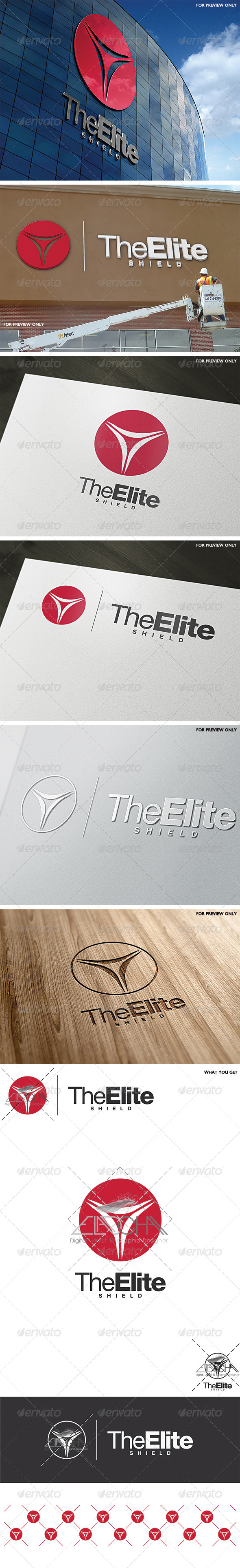 The Elite Shield Logo Template - Vector Abstract