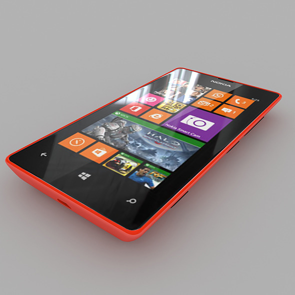 Nokia Lumia 525 Red - 3DOcean Item for Sale