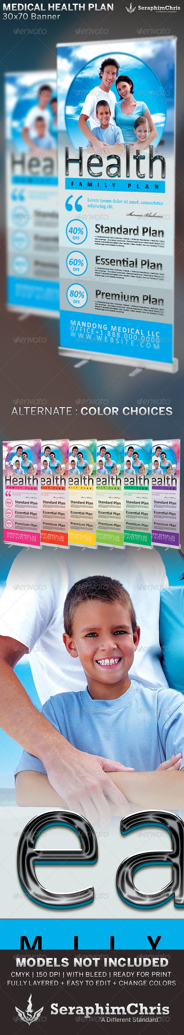 Medical Health Plan Banner Template - Signage Print Templates