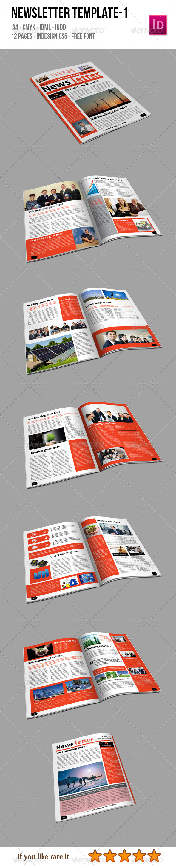 Newsletter Template 1 - Newsletters Print Templates