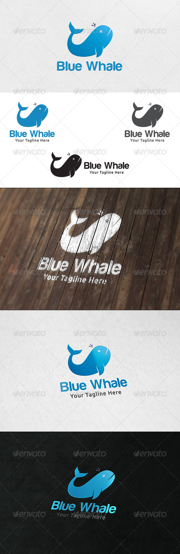 Blue Whale - Logo Template - Animals Logo Templates