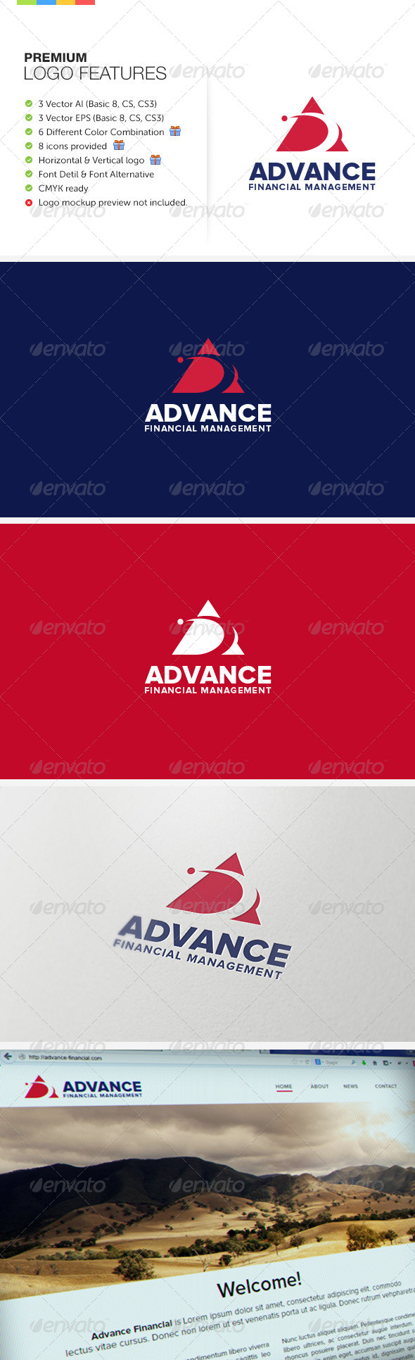 Advance Financial Management - Symbols Logo Templates