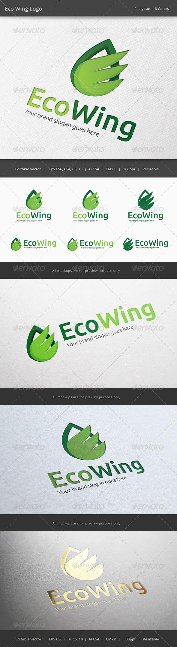 Eco Wing Logo - Nature Logo Templates