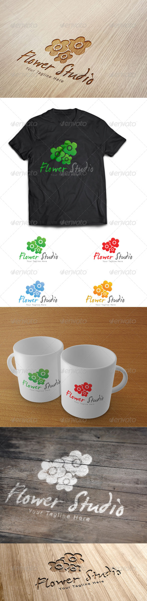 Flower Studio Logo Template - Nature Logo Templates