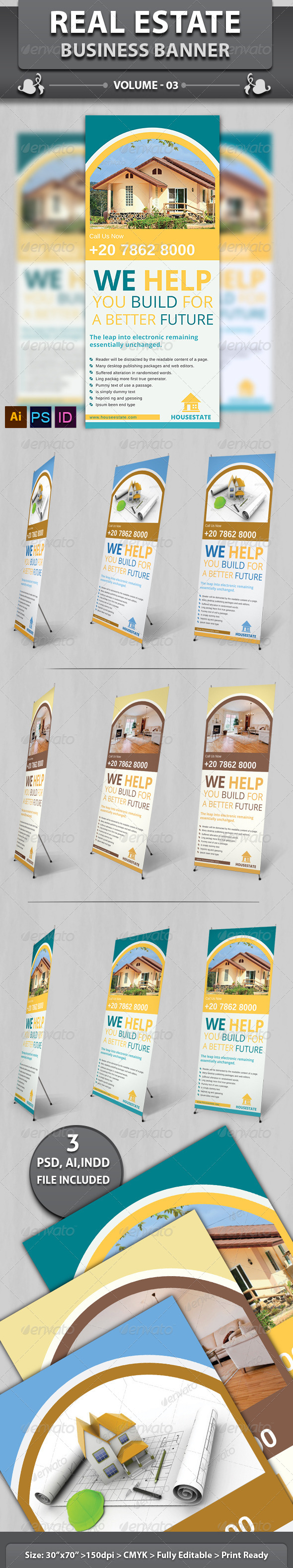 Real Estate Business Banner | Volume 7 - Signage Print Templates