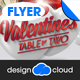 Valentine Table for Two Party and Event Flyer