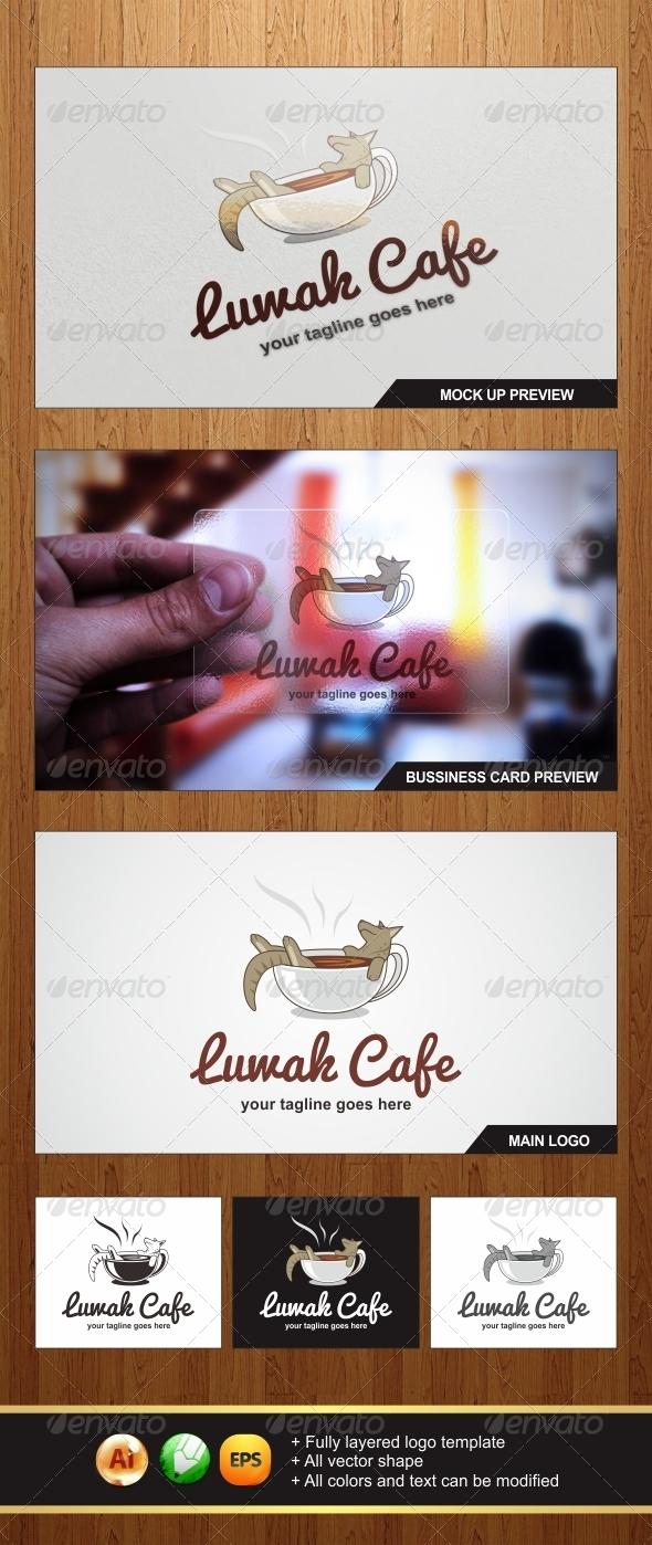 Luwak Cafe Logo - Food Logo Templates
