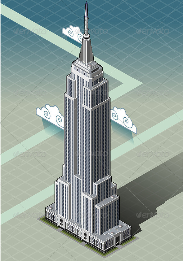 Isometric Empire State Building - Buildings Objects