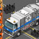 Isometric White Garbage Truck in Front View - GraphicRiver Item for Sale