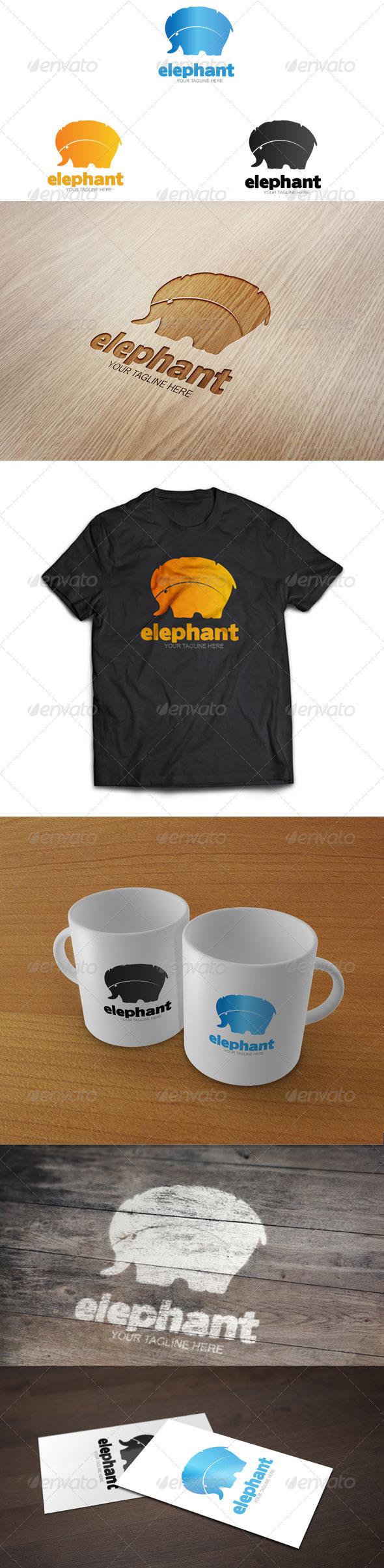 Elephant - Logo Template - Animals Logo Templates