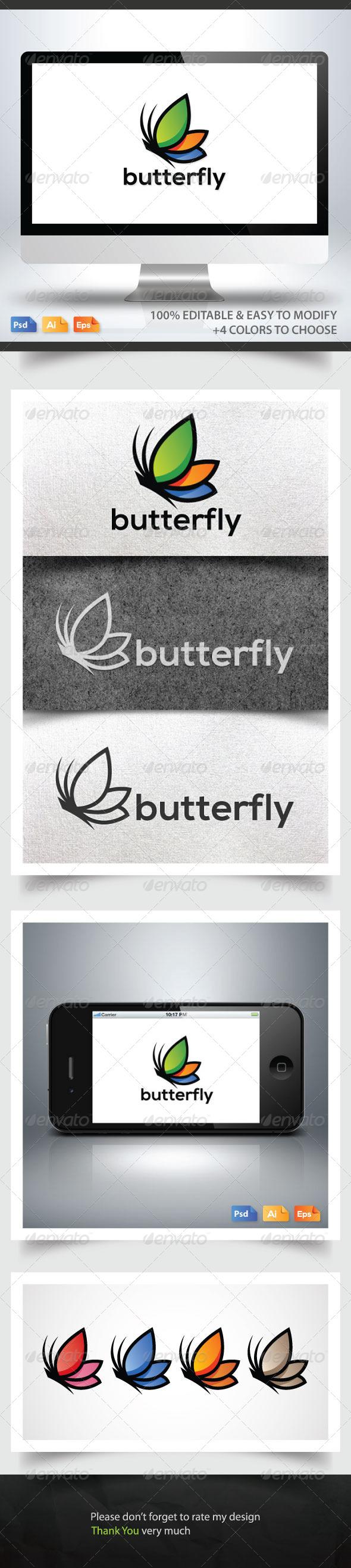 Butterfly Logo - Animals Logo Templates