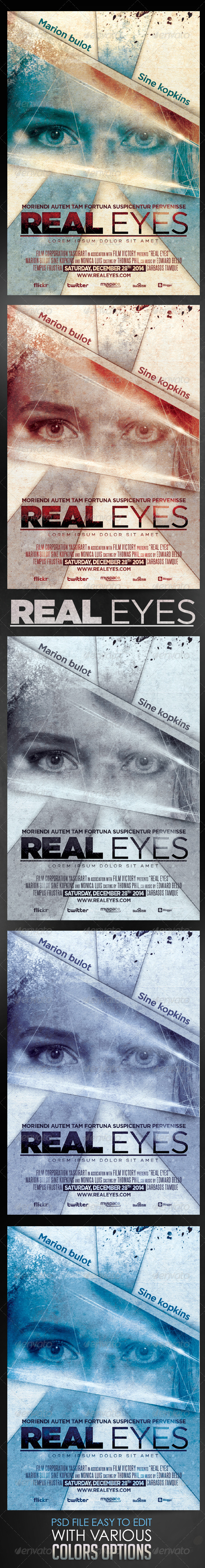 Real Eyes Film Template - Events Flyers
