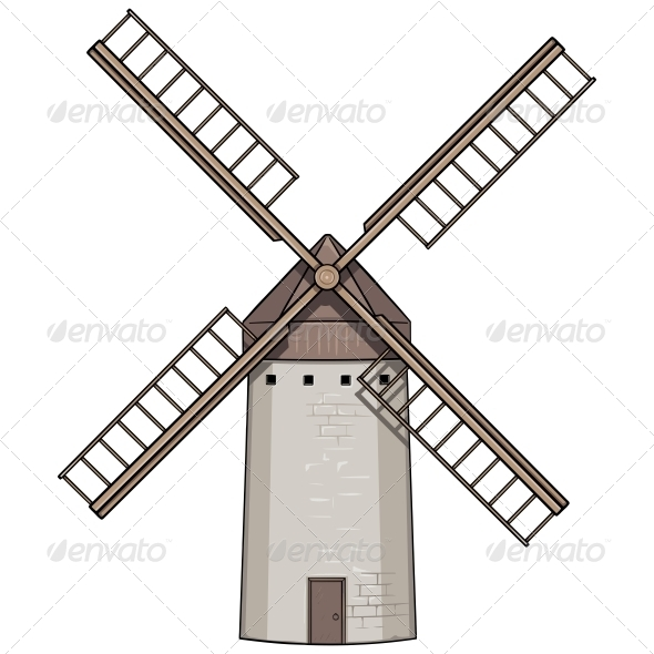 Old Windmill - Buildings Objects