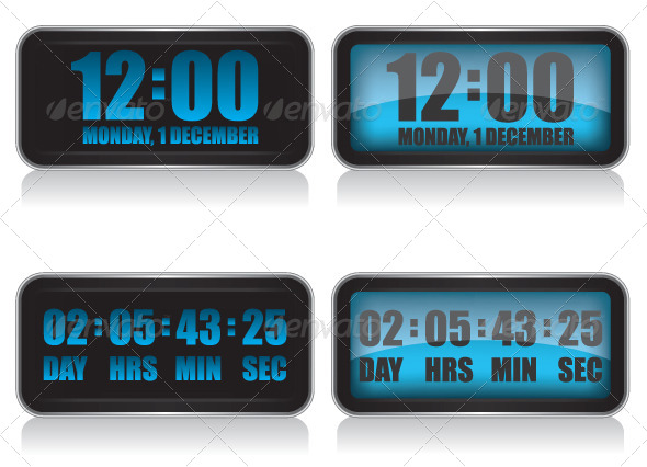Digital Clock and Countdown  - Technology Conceptual