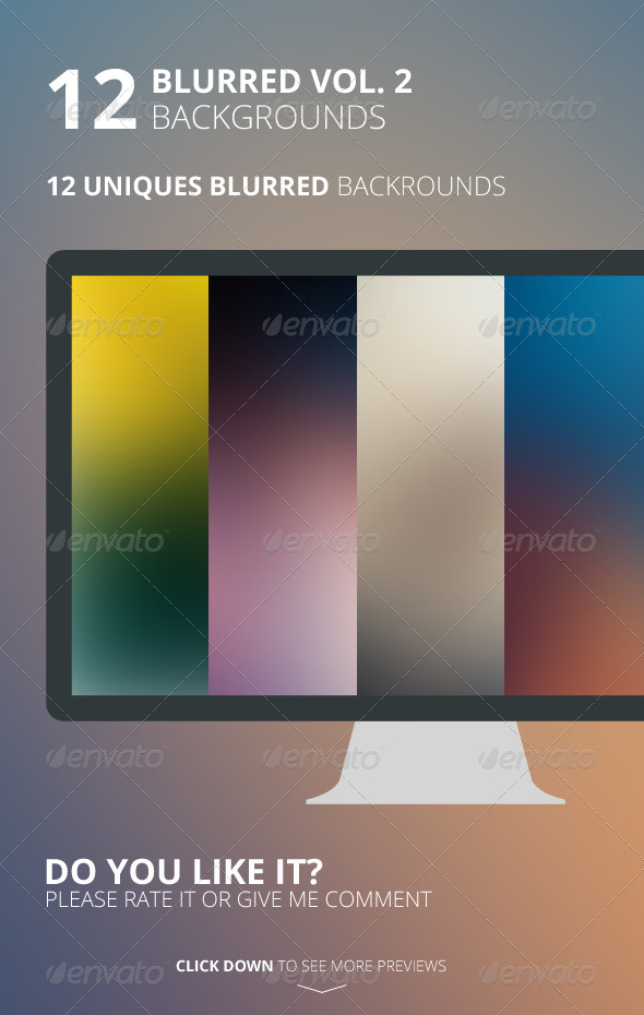 12 Blurred Backgrounds Vol. 2 - Backgrounds Graphics