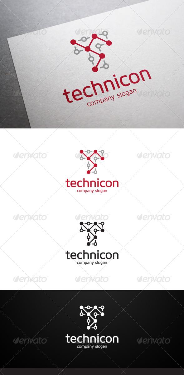 Technicon T Letter Logo - Letters Logo Templates