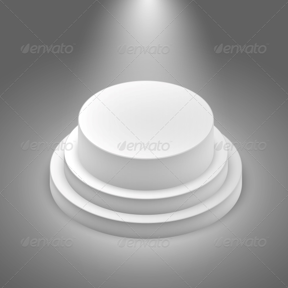 White Empty Stage - Man-made Objects Objects