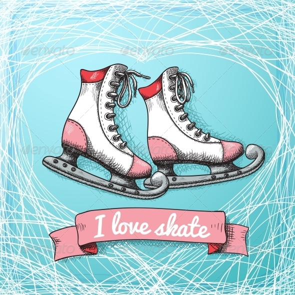 Love Skate Card Theme - Sports/Activity Conceptual