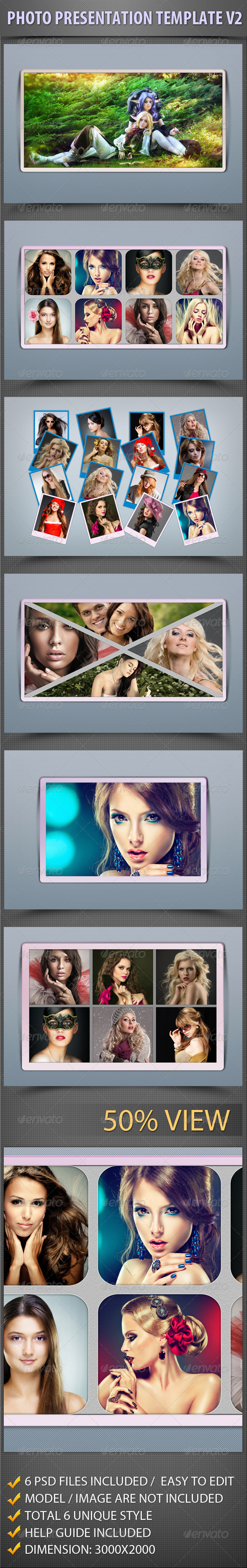 Photo Presentation Template V2 - Photo Templates Graphics