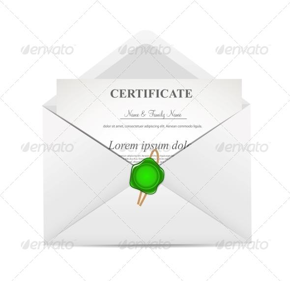 Certificate in Envelope - Christmas Seasons/Holidays